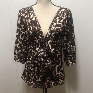 Artrageous Brown Leopard Top Size S